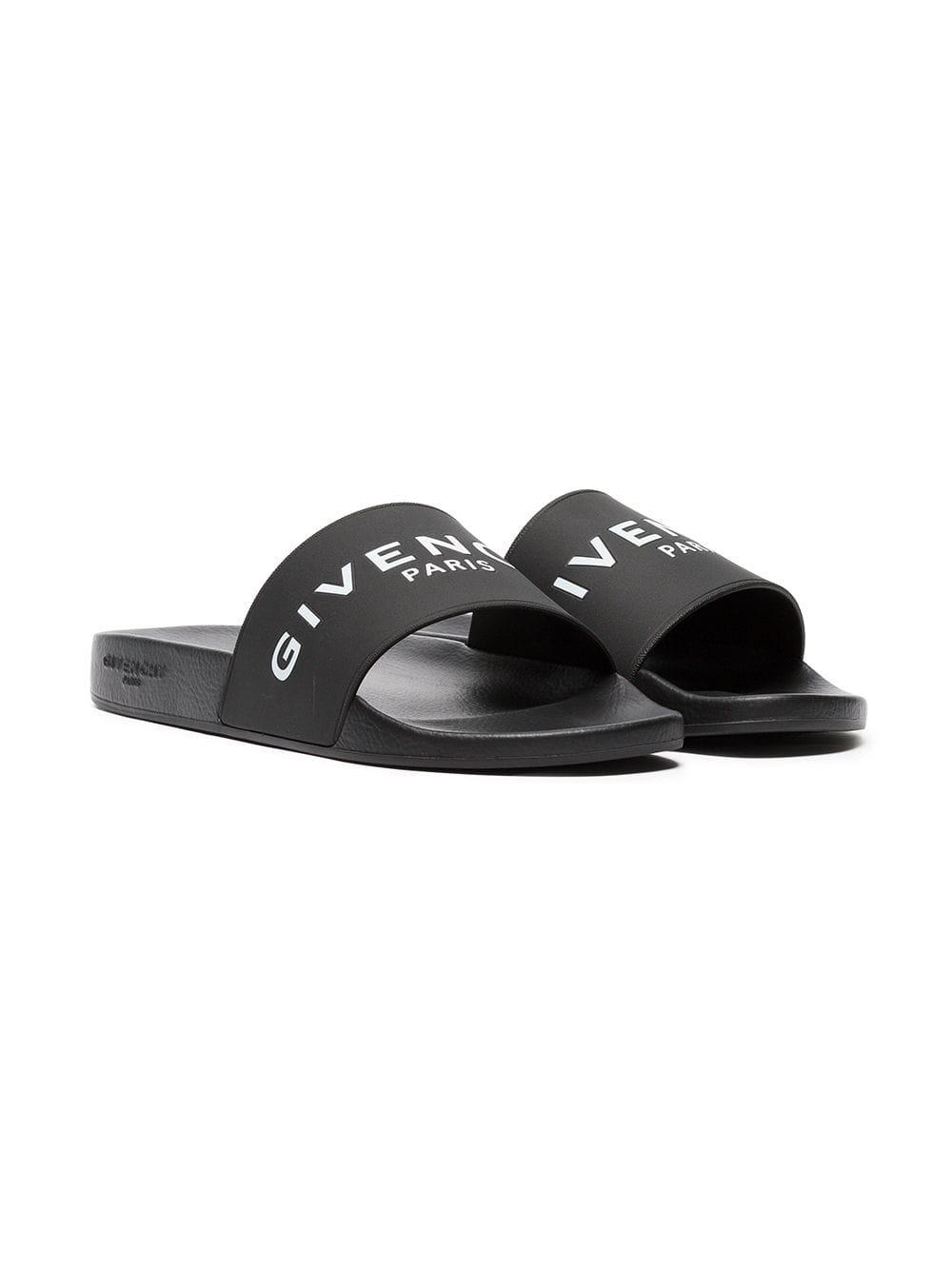 538c2b45108a7 Givenchy - Black Logo-print Rubber Slides for Men - Lyst. View fullscreen
