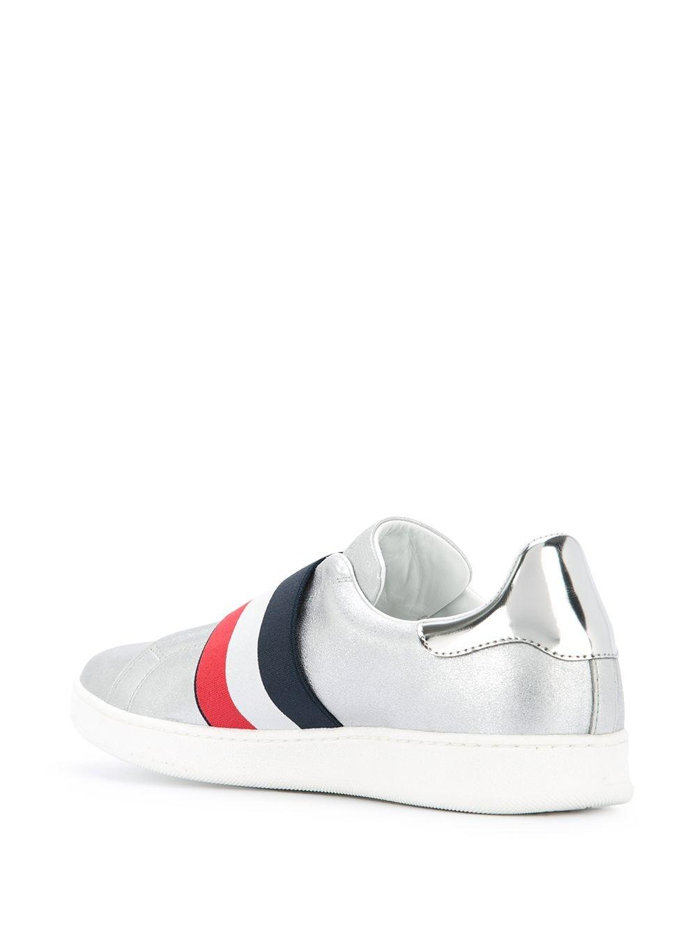 Moncler Leather Alizee Sneakers in Metallic