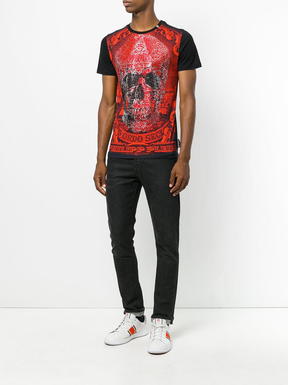 lyst philipp plein curtis t shirt in red for men. Black Bedroom Furniture Sets. Home Design Ideas