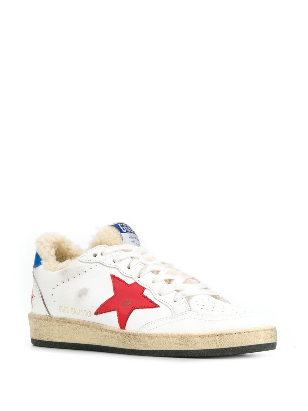 Zapatillas bajas Golden Goose Deluxe Brand de Pluma de oca de color Blanco