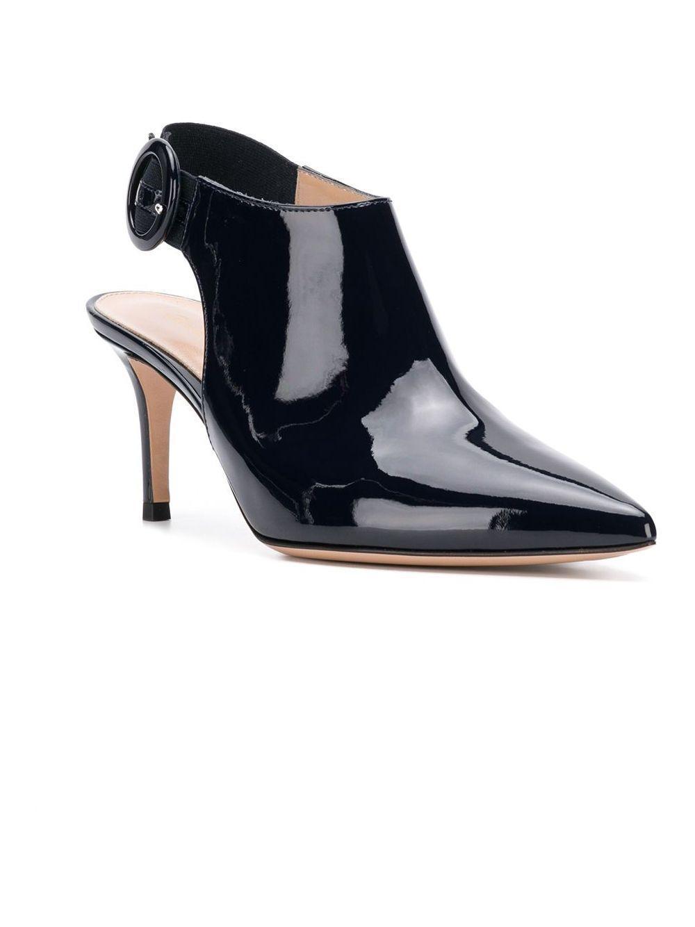 Zapatos de tacón con efecto barnizado Gianvito Rossi de Cuero de color Negro