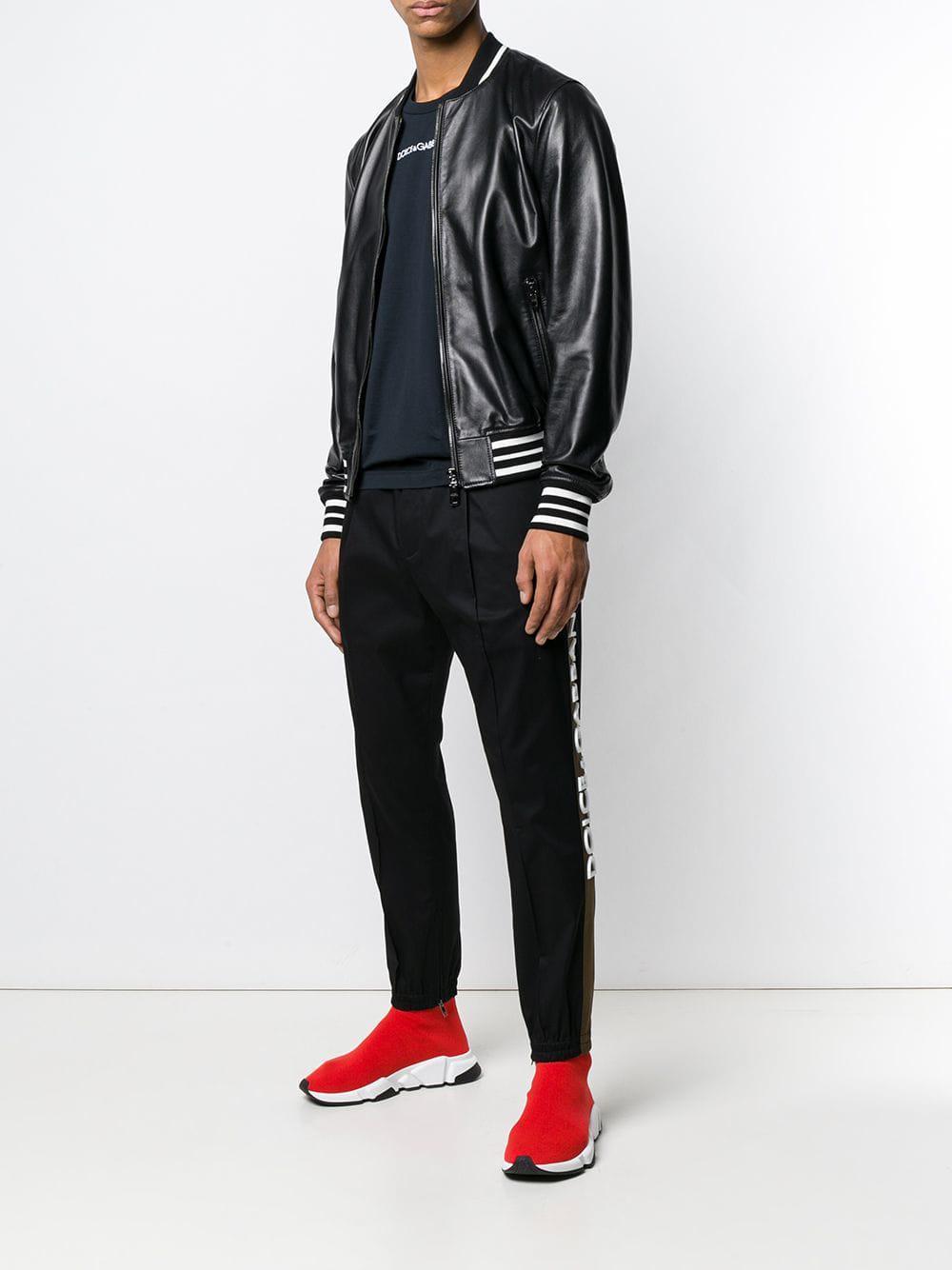 6306f2d8 Lyst - Dolce & Gabbana Logo Trim Sweatpants in Black for Men