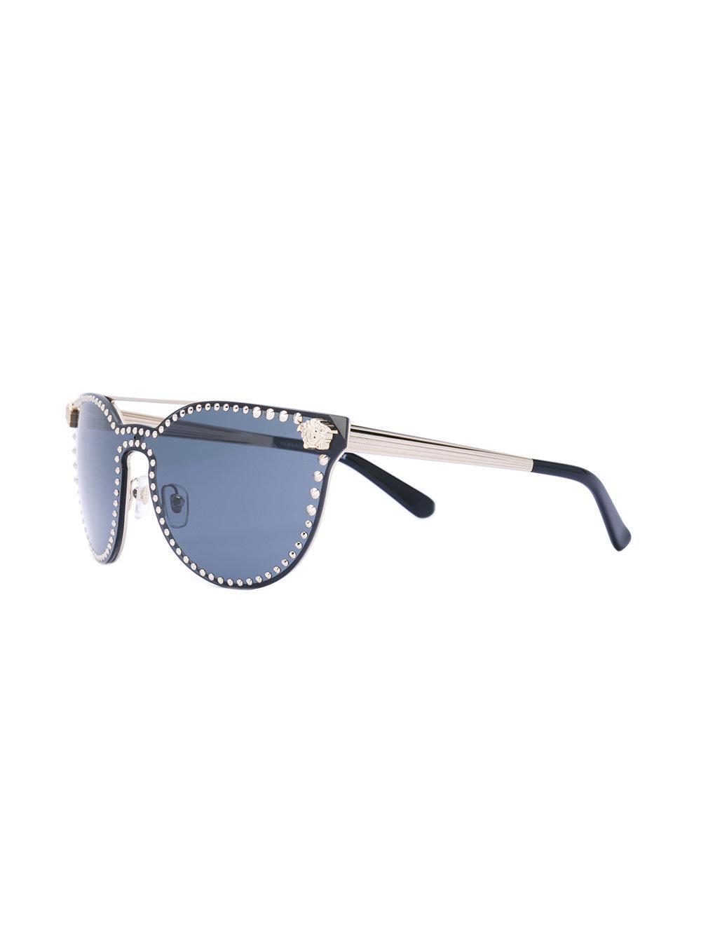 Versace Studded Medusa Sunglasses in Black