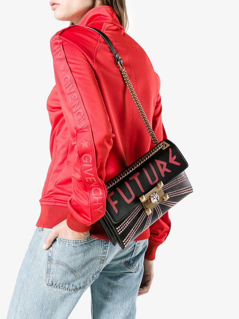 7ae27e1c717 Gucci - Black Linea Future Shoulder Bag - Lyst. View fullscreen