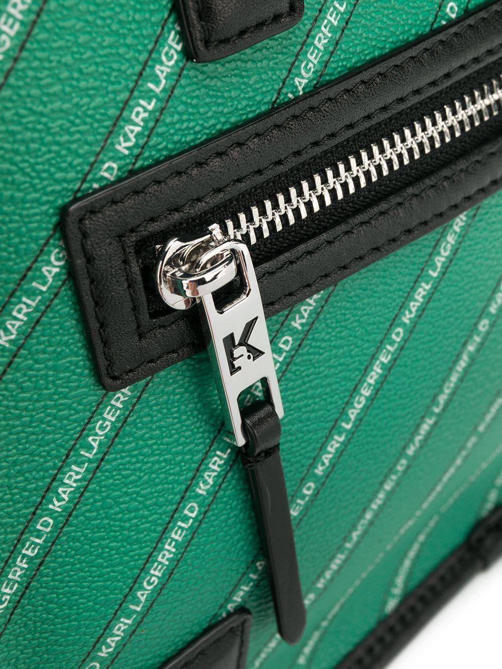Sac à main Toile Karl Lagerfeld en coloris Vert - 55 % de réduction P867