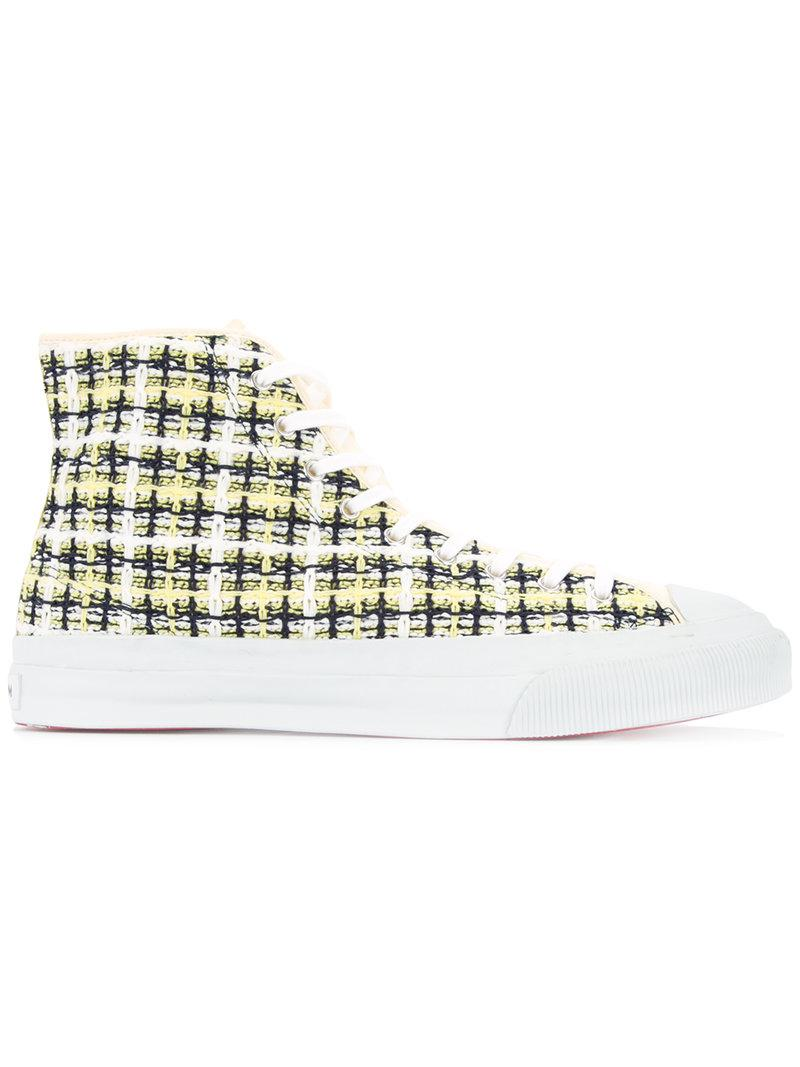 COOHEM×MoonStar Spring Tweed sneakers - Yellow & Orange Coohem 2IexNieak