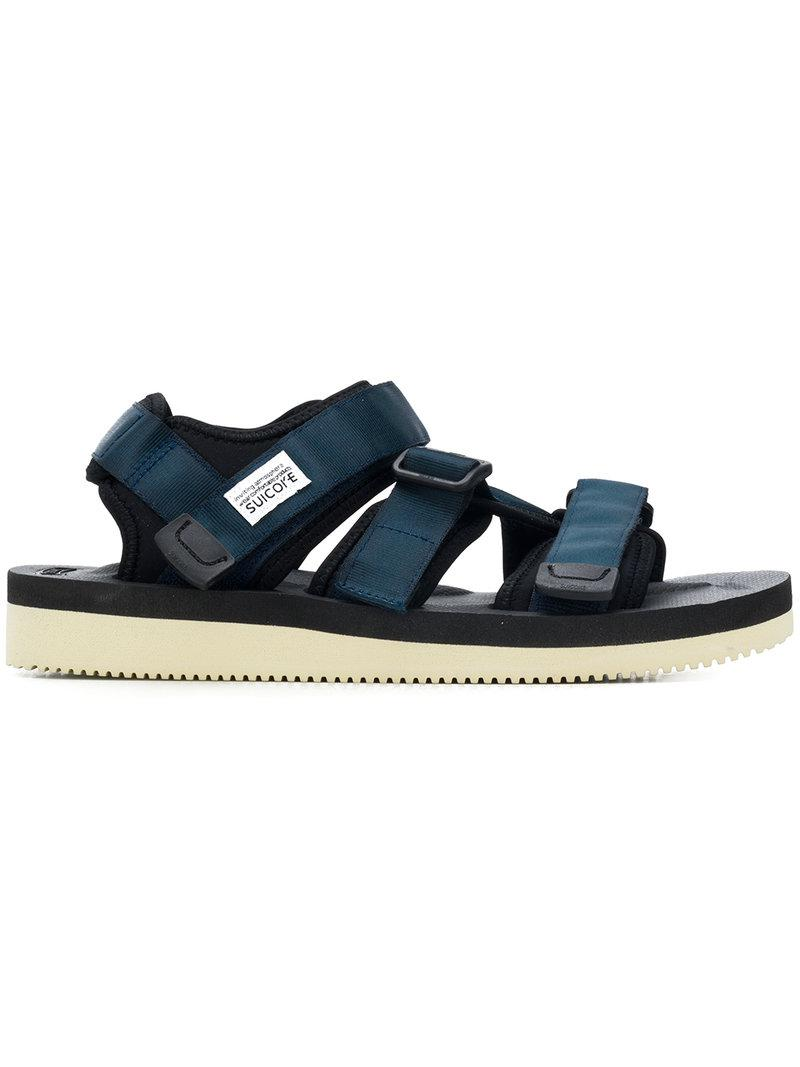 ed1c59201d6f Suicoke Touch Strap Fastening Sandals in Blue for Men - Save ...