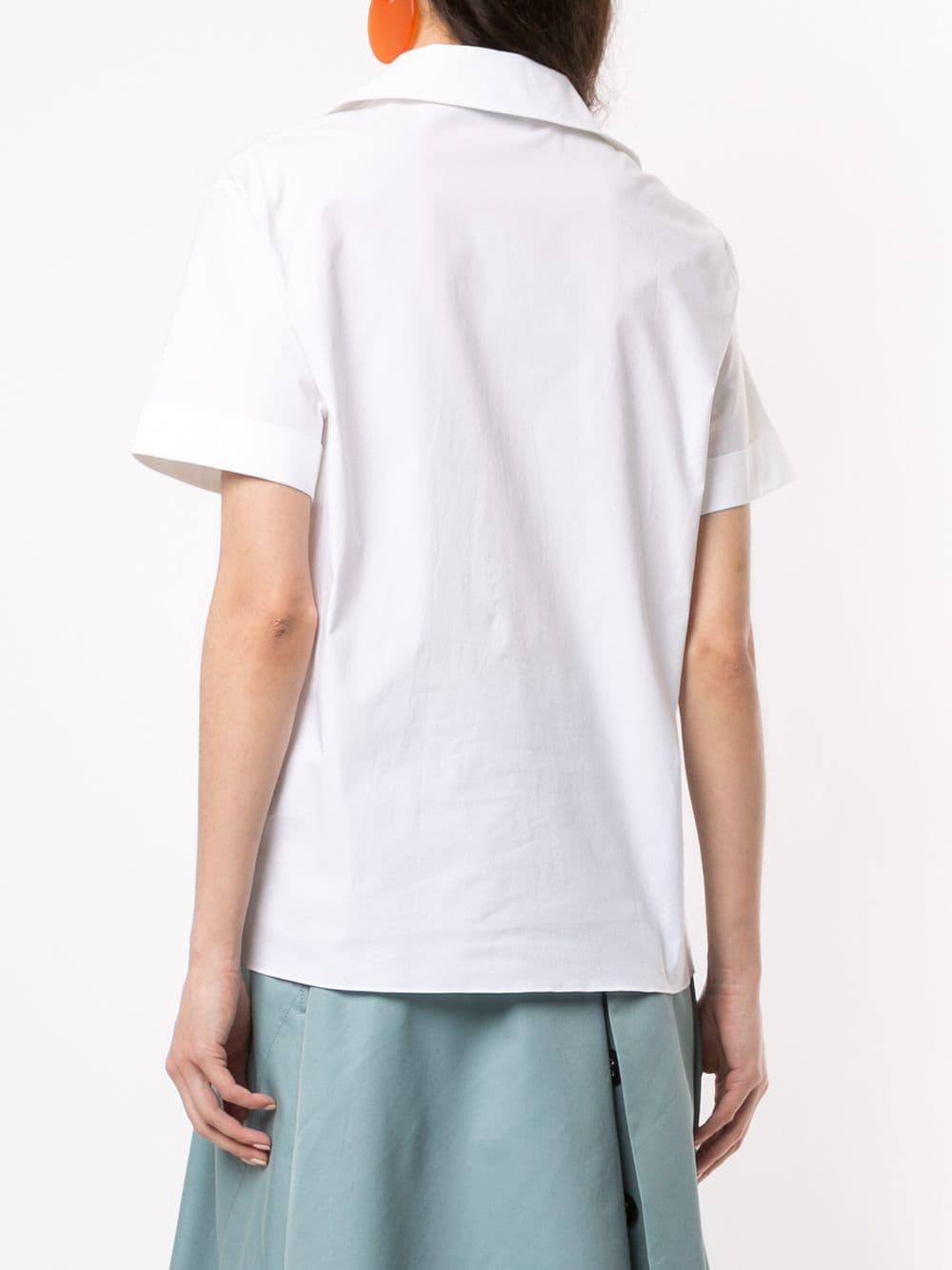 Camisa con detalle de capas Lanvin de Tejido sintético de color Blanco