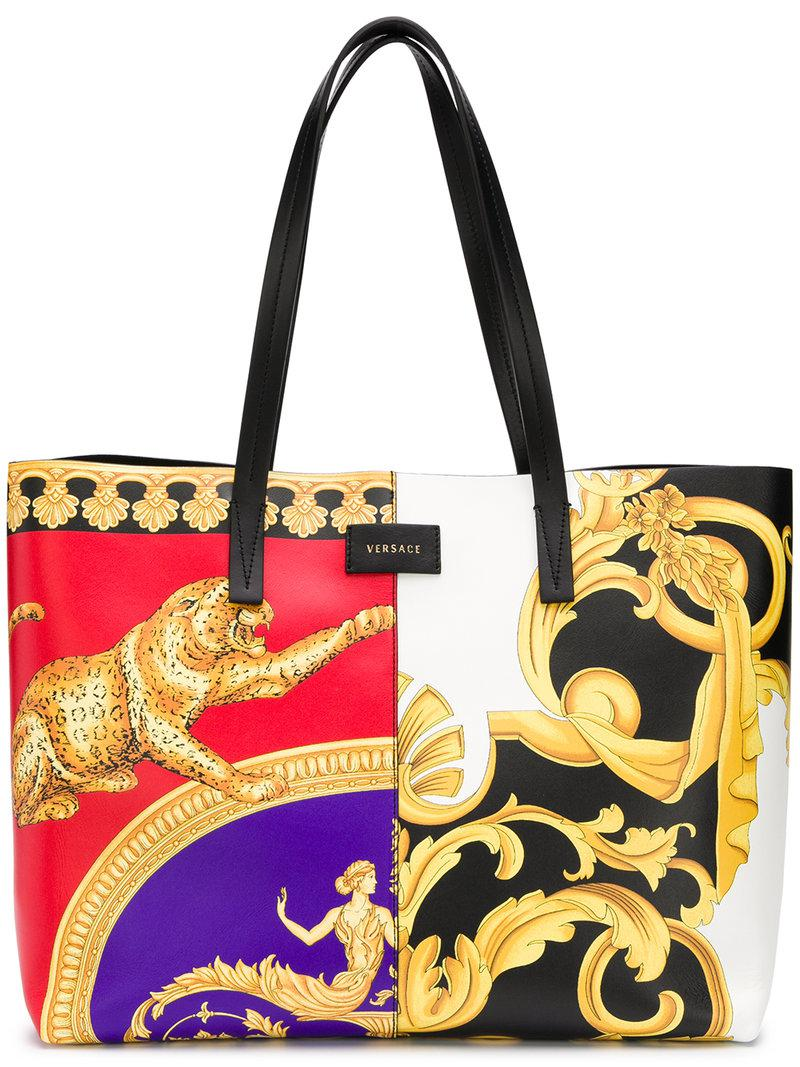 Lyst - Versace Baroque-print Shoulder Bag in White 6d5eb36e1c3ec