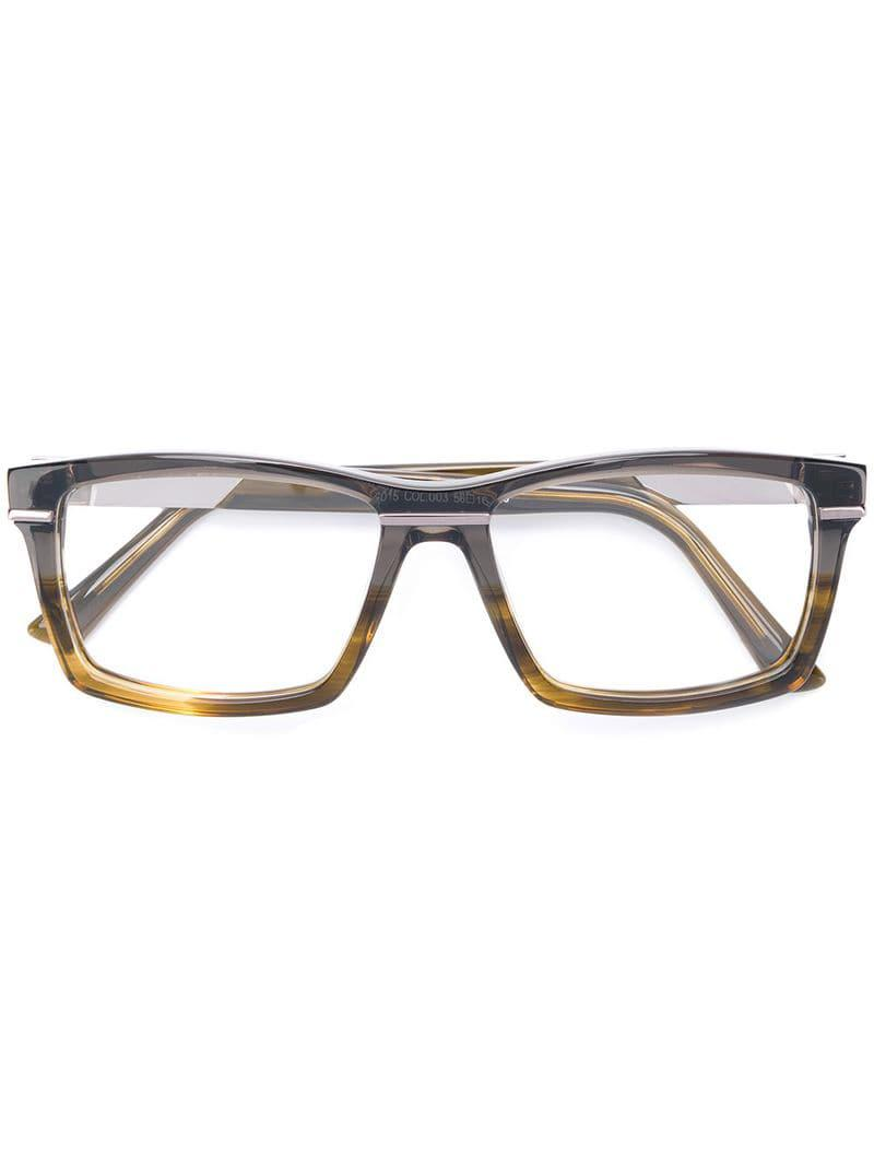 ddfce714601 Lyst - Cazal Rectangle Frame Glasses in Brown