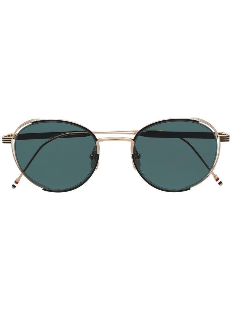 244f2c52865 Lyst - Thom Browne Round-framed Sunglasses in Metallic