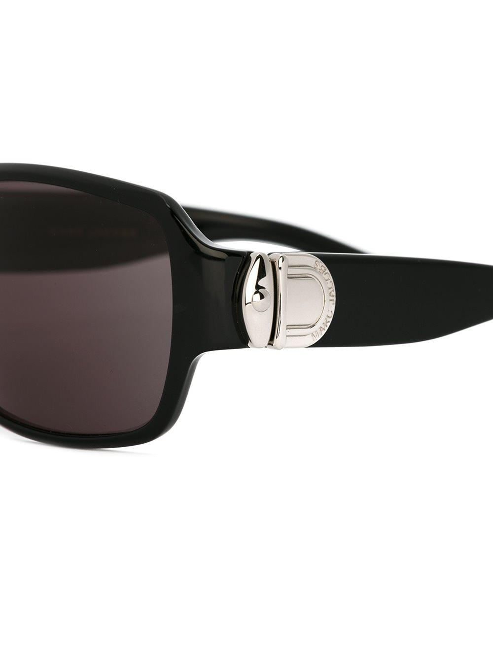 Marc Jacobs Rectangular Frame Sunglasses in Black