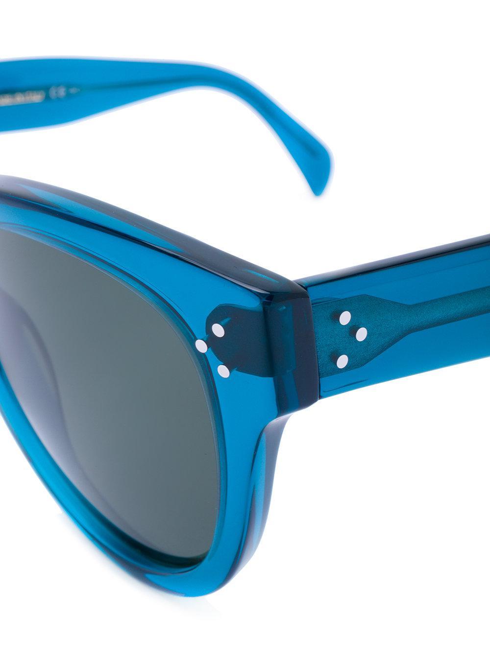 Celine Audrey Sunglasses in Blue