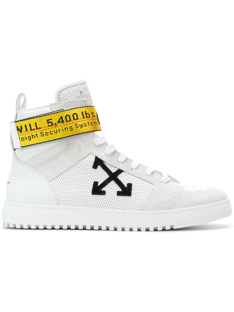 5878655940b3d0 Lyst - Off-White c o Virgil Abloh Industrial Tape High Top Sneakers ...