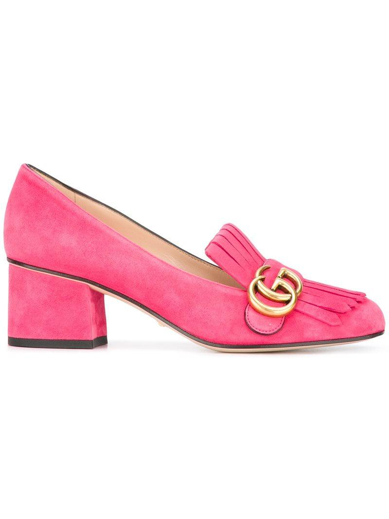 86c529cb088 Lyst - Mocassins GG Gucci en coloris Rose - 8 % de réduction