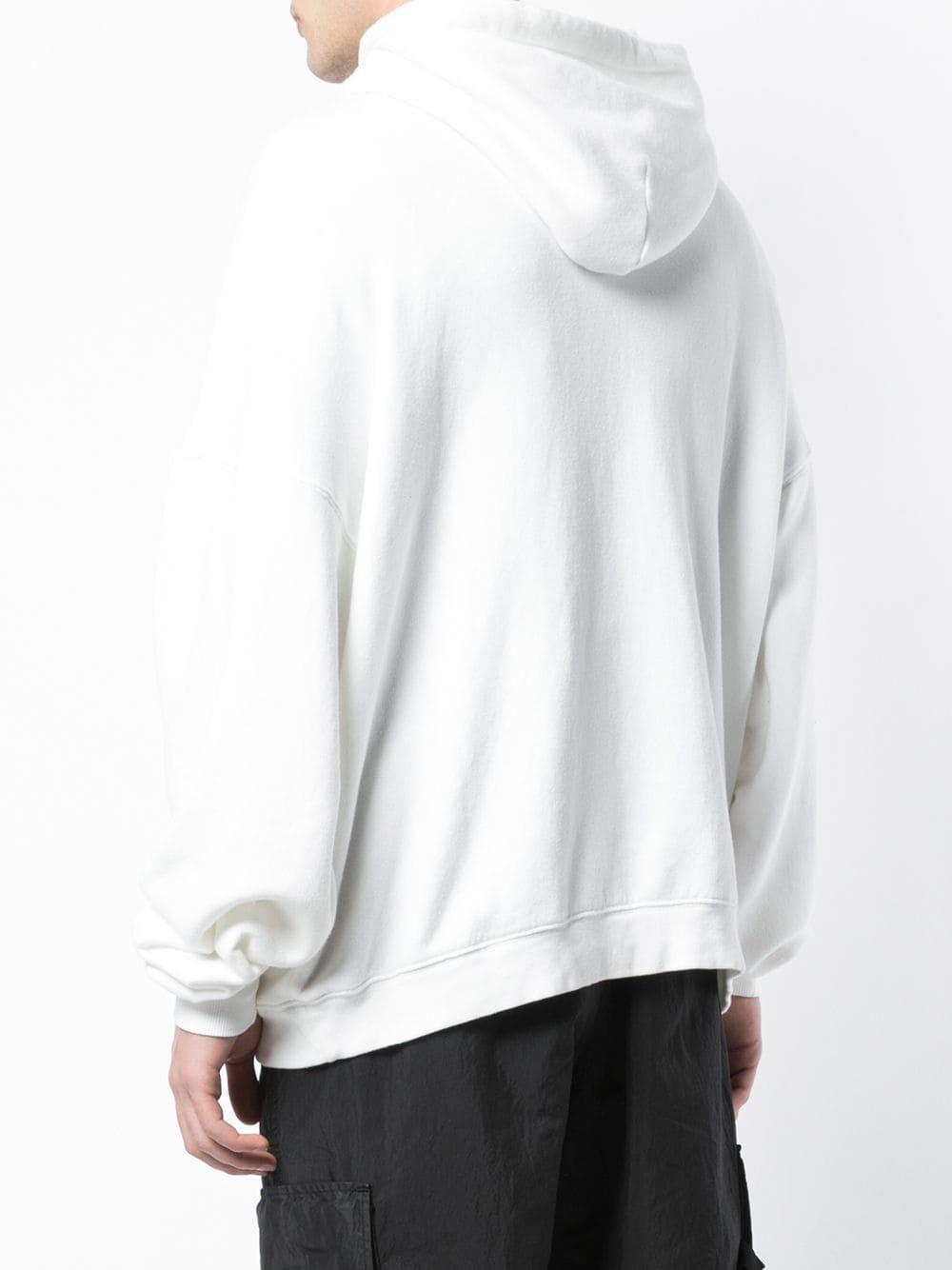 R13 Katoen Ruimvallende Hoodie in het Wit voor heren