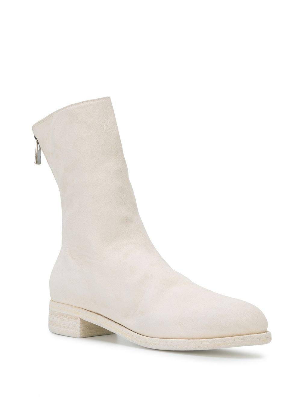 Botines Micha Guidi de Cuero de color Blanco