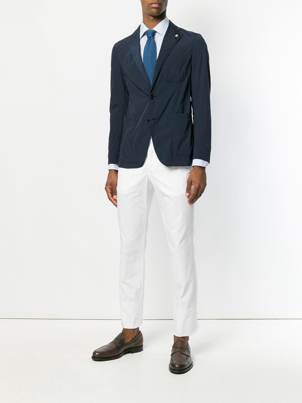 Aspesi Baumwolle Hose mit geradem Bein in Weiß für Herren