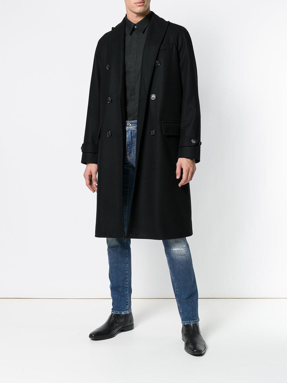 Dolce & Gabbana Denim Distressed Regular-fit Jeans in Blue for Men