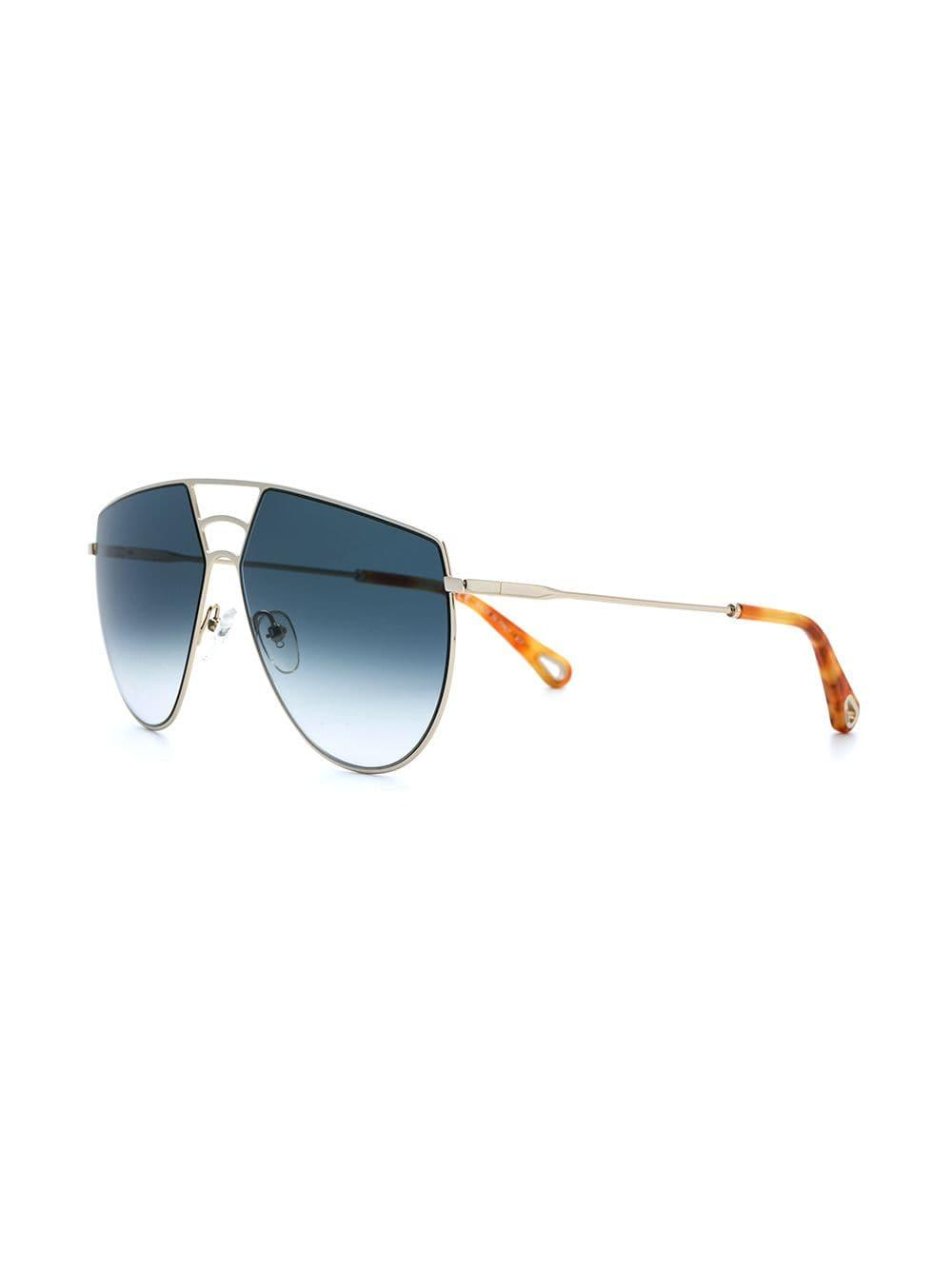 Chloé Ricky Sunglasses in Metallic