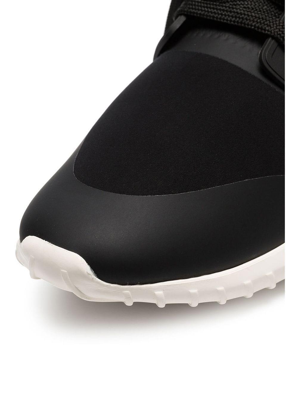 Moncler Cotton Black Scuba Low Top Sneakers