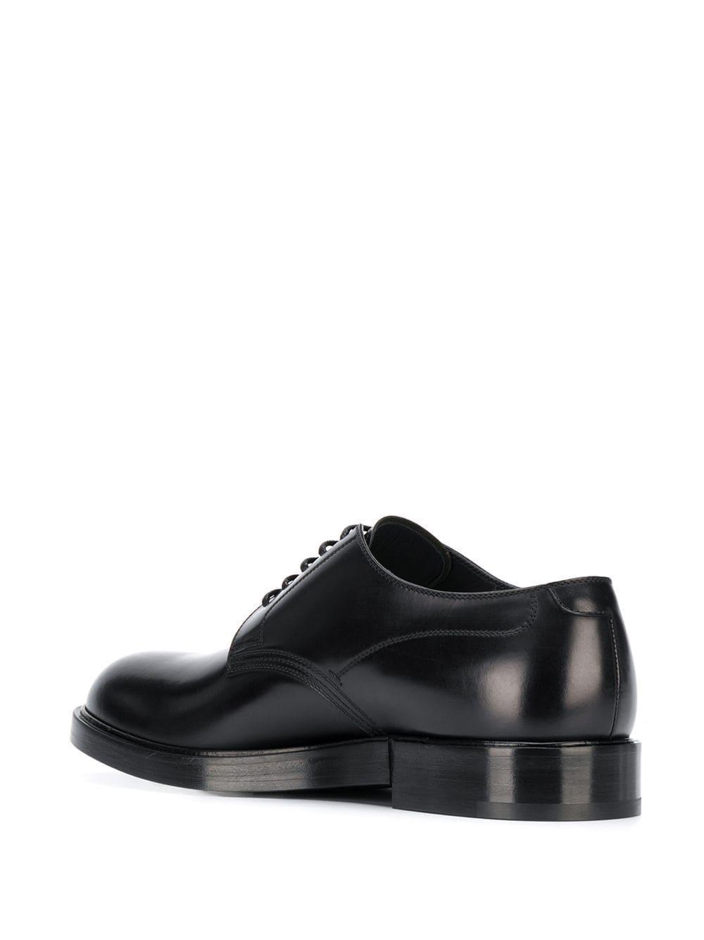 Dolce & Gabbana Leer Derby Veterschoenen in het Zwart voor heren