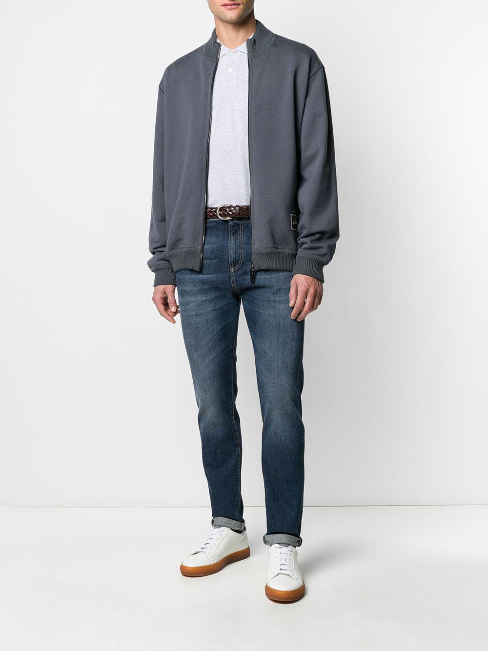 Brioni Geribbelde Sweater in het Grijs voor heren