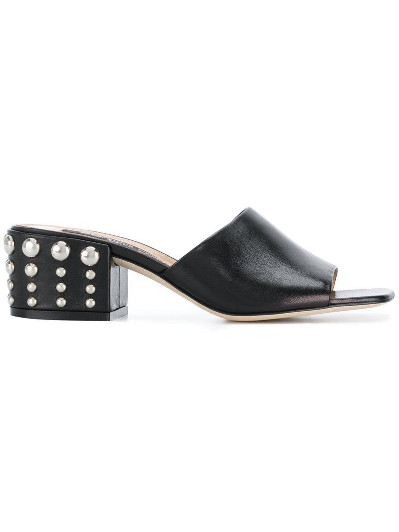 Free Shipping Footaction Fashion Style Cheap Online Sergio Rossi Pearl embellished heel mules cF80mvn