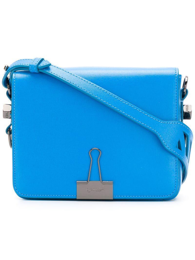 c390f4b52d93 Lyst - Off-White c o Virgil Abloh Binder Clip Shoulder Bag in Blue