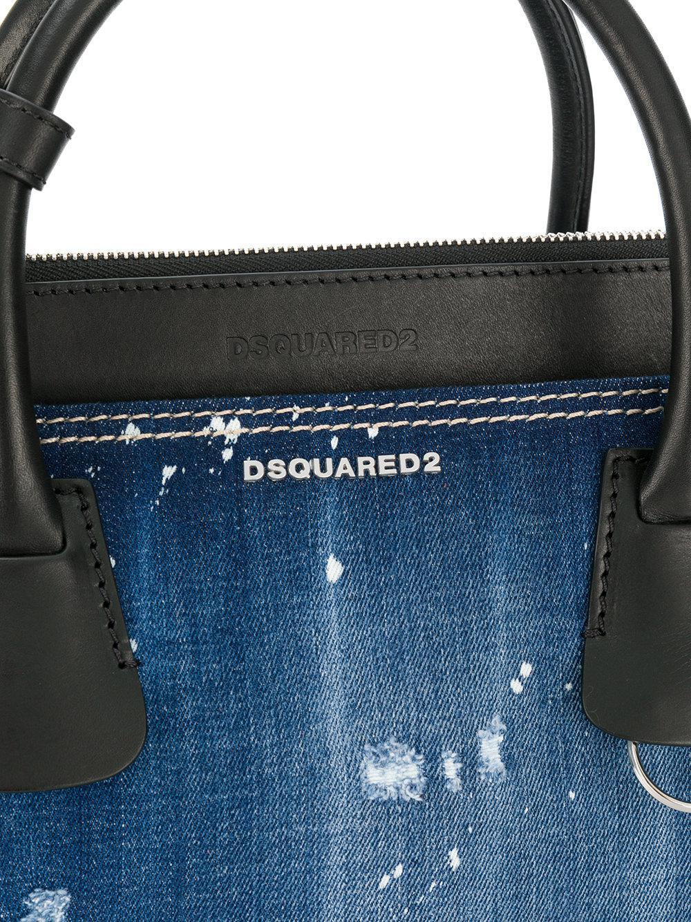 DSquared² Denim Tote Bag in Blue