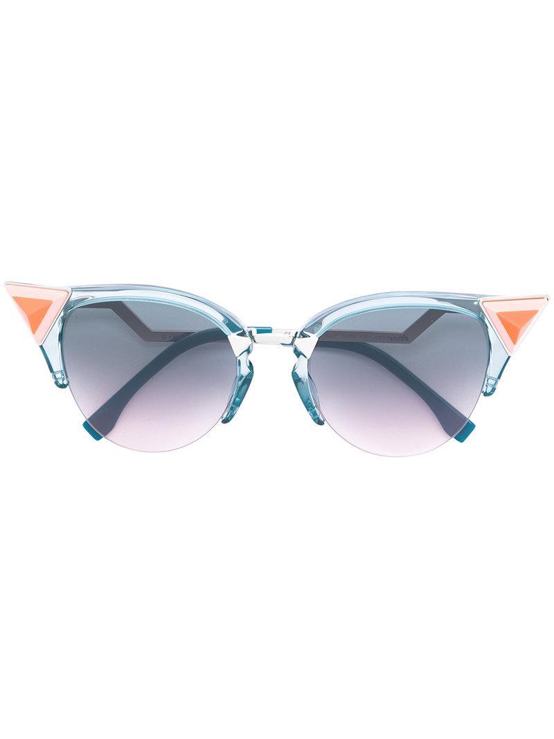 3fbda9b2f4a Lyst - Fendi Iridia Sunglasses in Blue