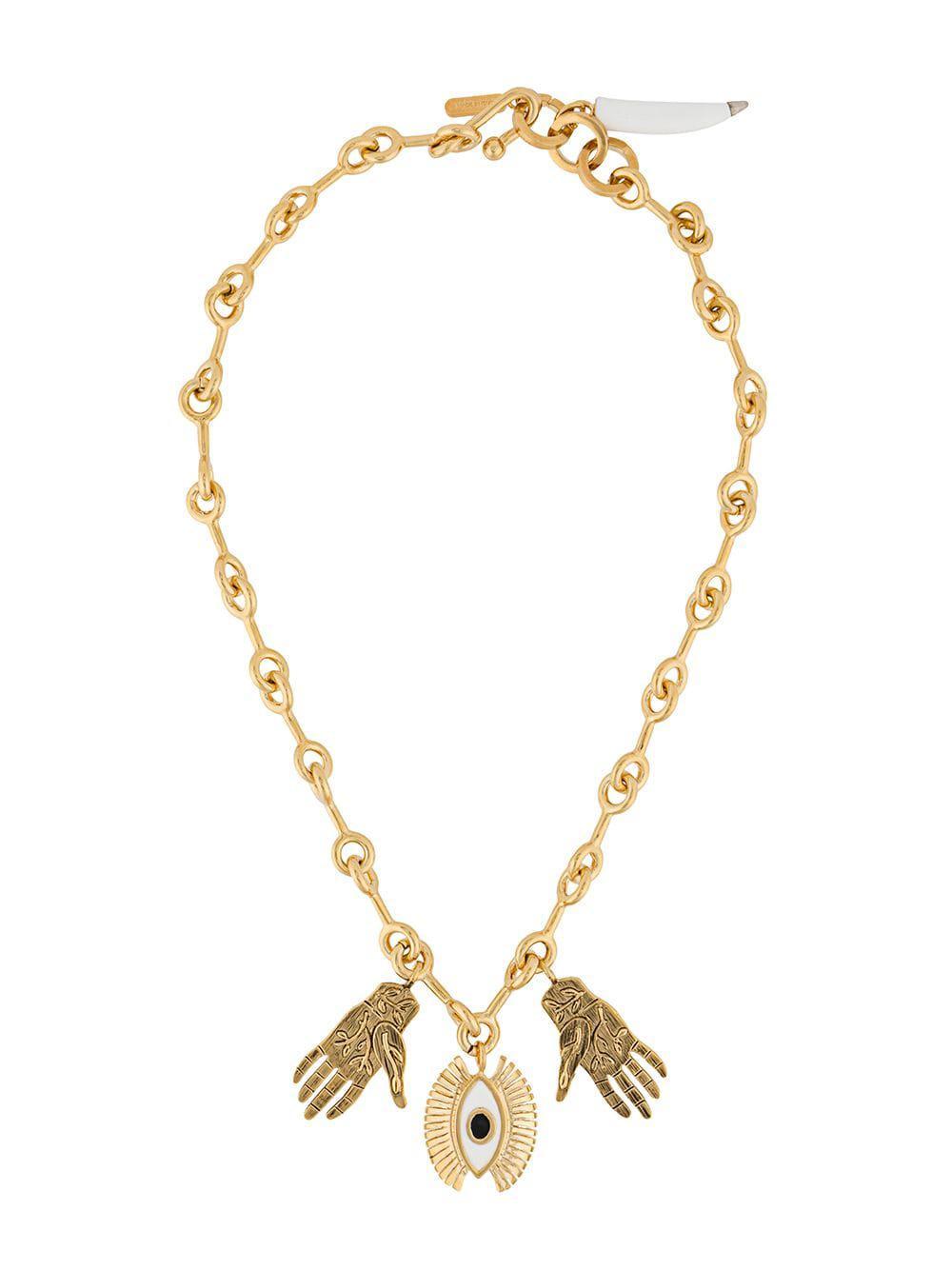 Chloé Sloan Pendant Necklace in Metallic