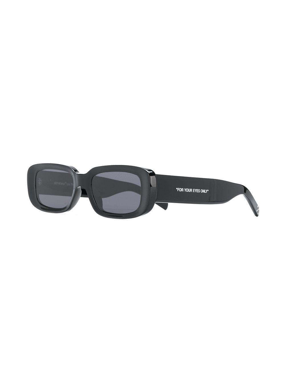 Sunglasses Black White In Men For Rectangular Off Abloh Co Virgil bf6Yvg7y