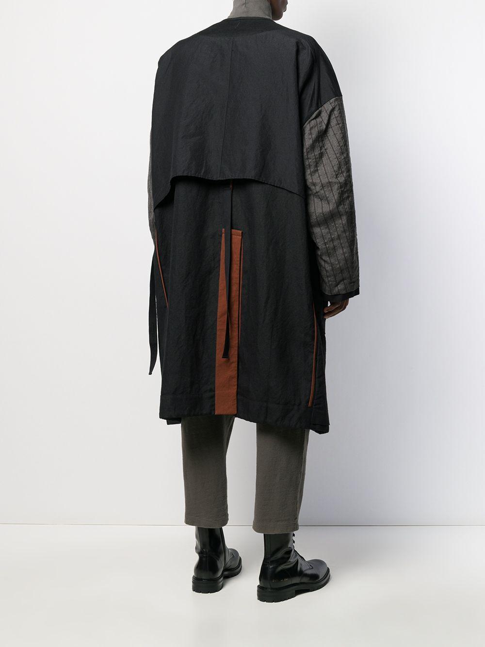 Manteau réversible oversize Laines Ziggy Chen pour homme en coloris Noir dKR92