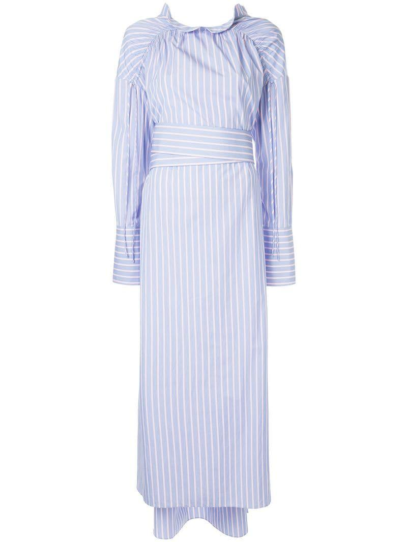 Shirt Dress Mekko Blue Striped In Lyst Teija bgIf7vY6y