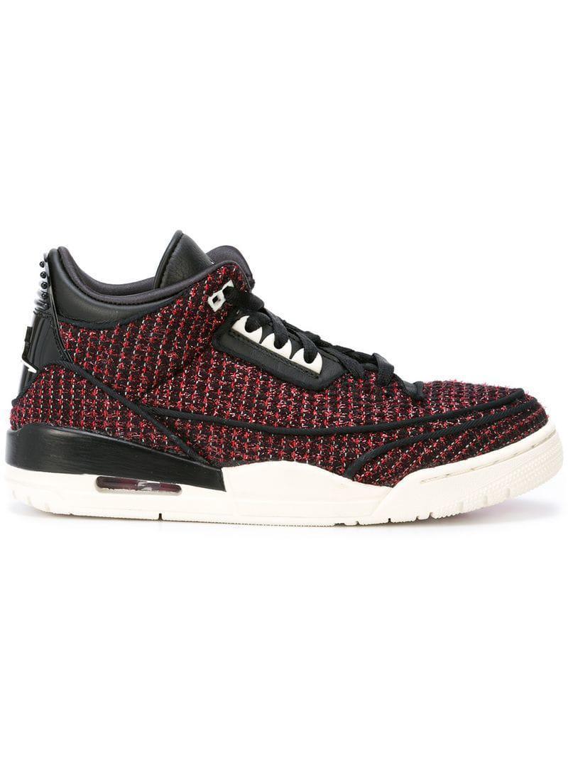 2f51a7941de850 Nike Air Jordan 3 Awok Sneakers in Black - Lyst