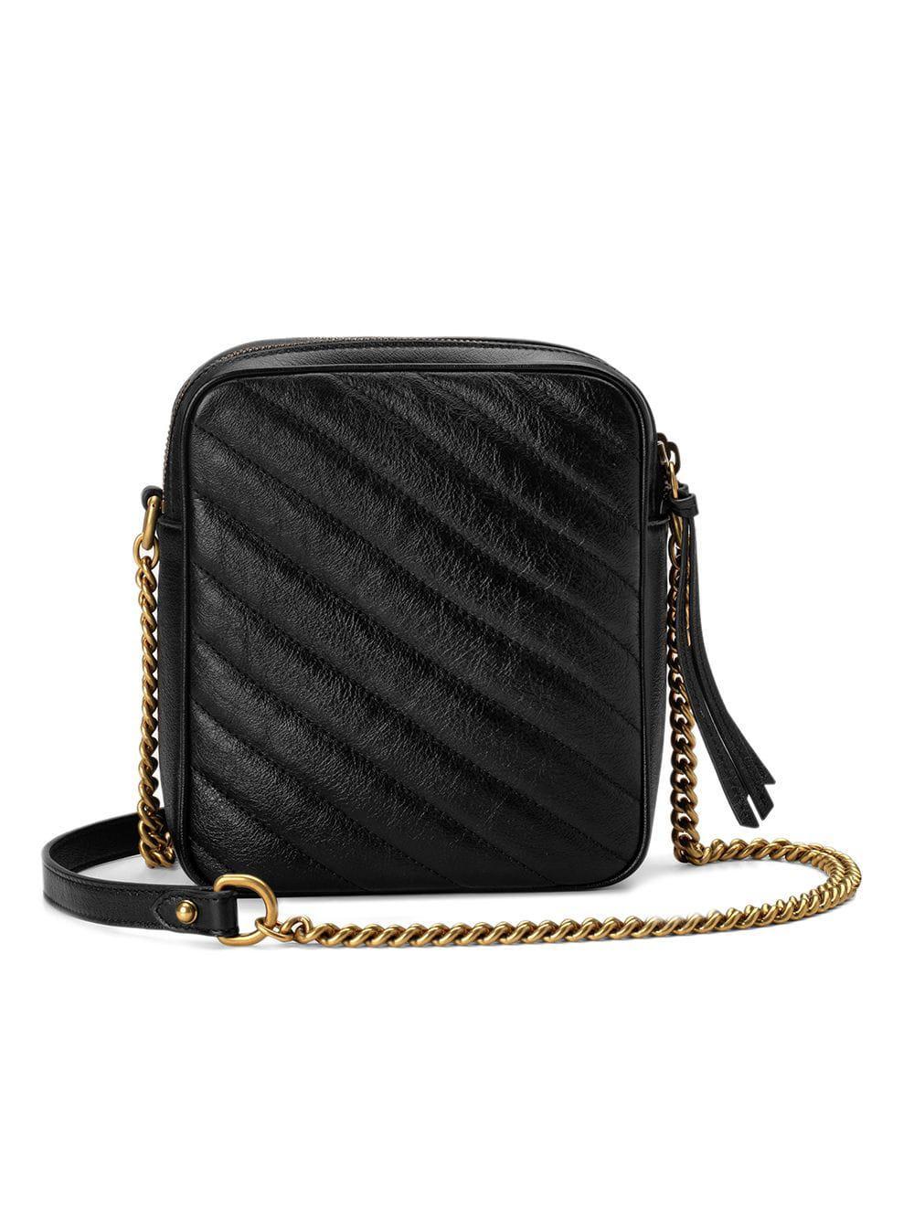 c701cbd6054 Lyst - Mini sac à épaule GG Marmont Gucci en coloris Noir