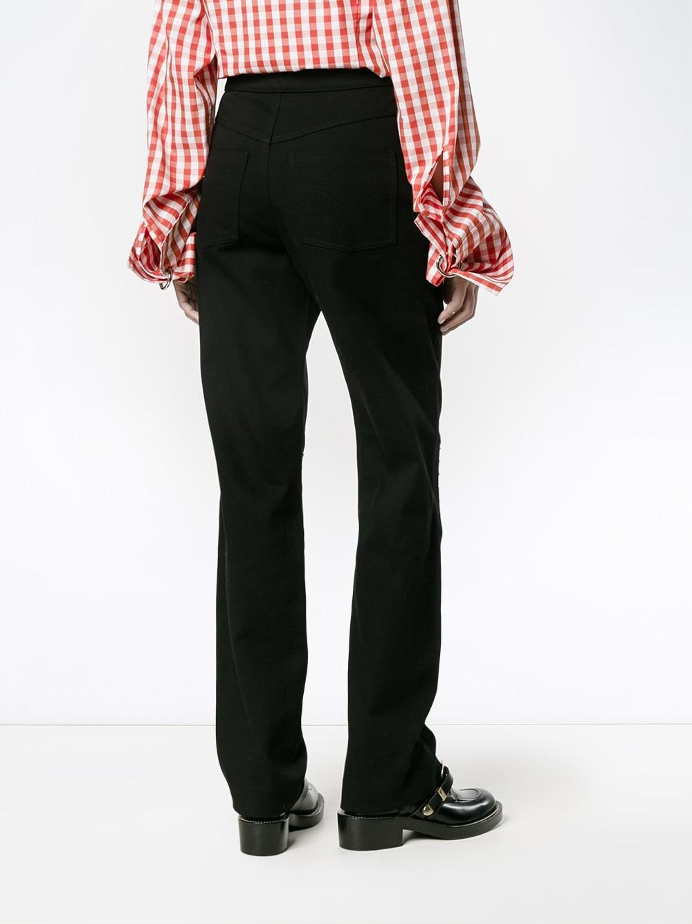 JW Anderson Denim Rounded Stud Knee Jeans in Black