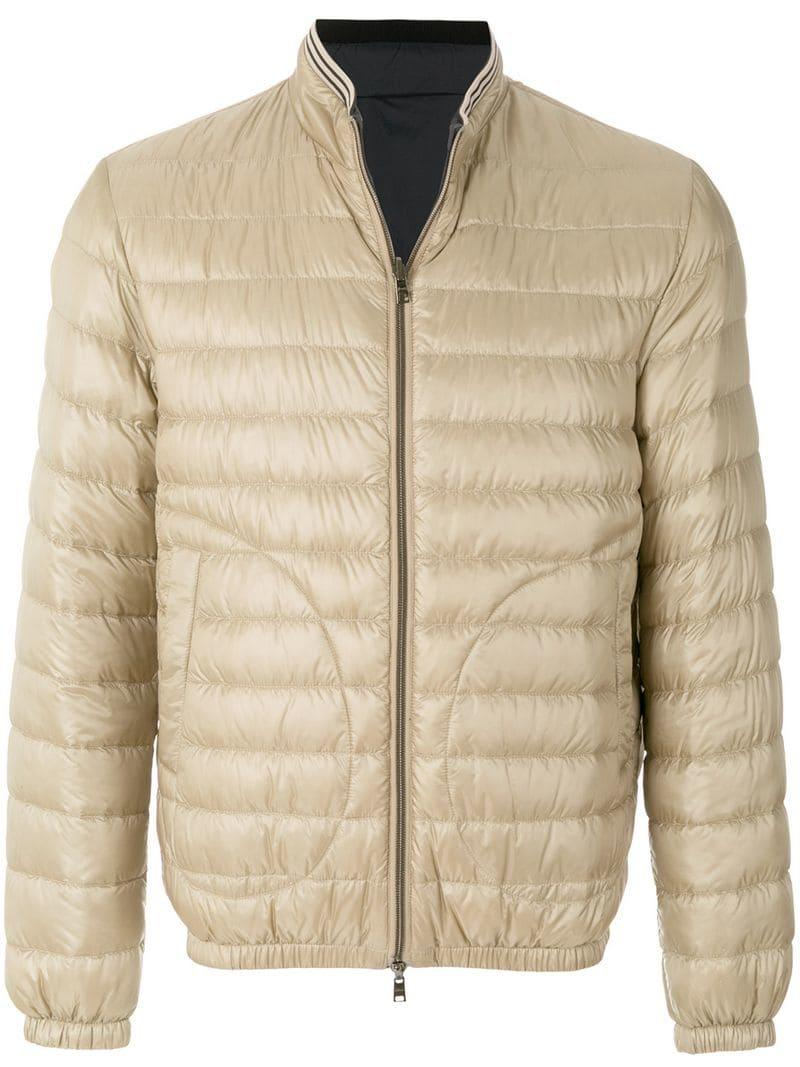424abd7ac94 Lyst - Herno Feather Down Zip Front Padded Jacket in Natural for Men ...