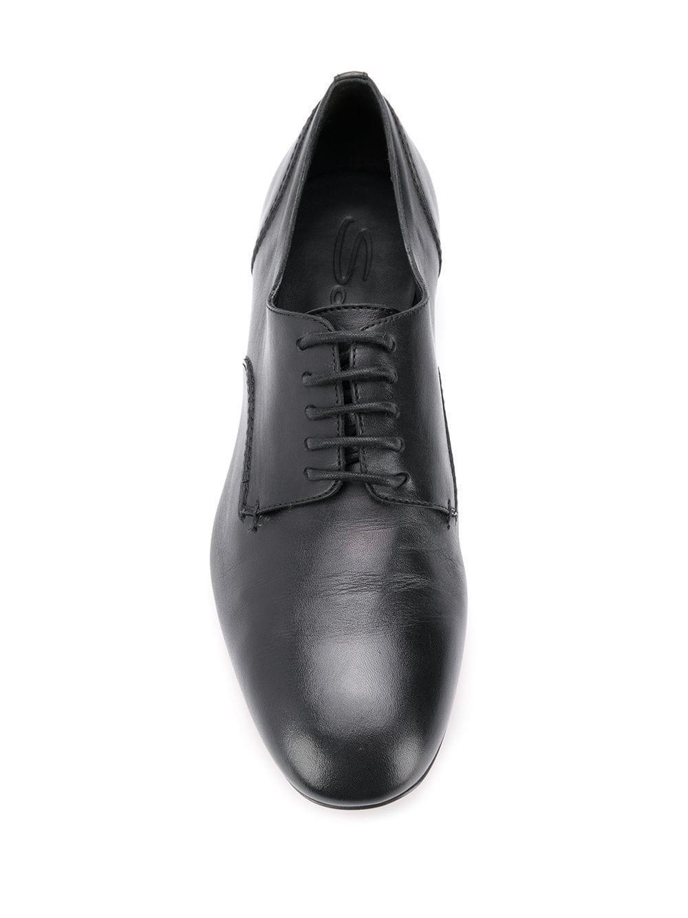 Zapatos oxford con tacón metálico Santoni de Cuero de color Negro