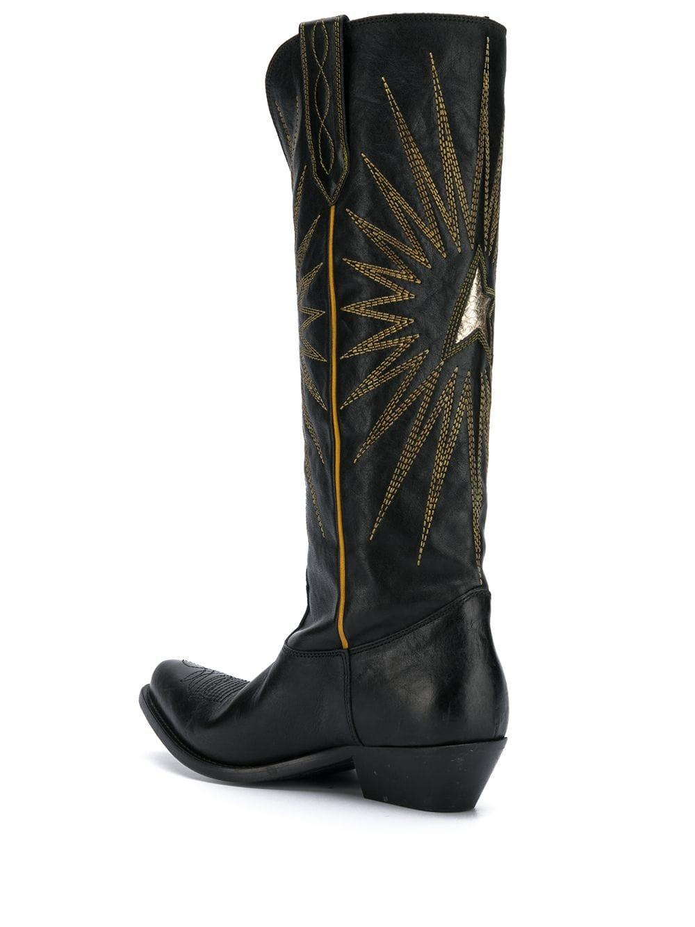 Botas estilo western Wish Star Golden Goose Deluxe Brand de Pluma de oca de color Negro
