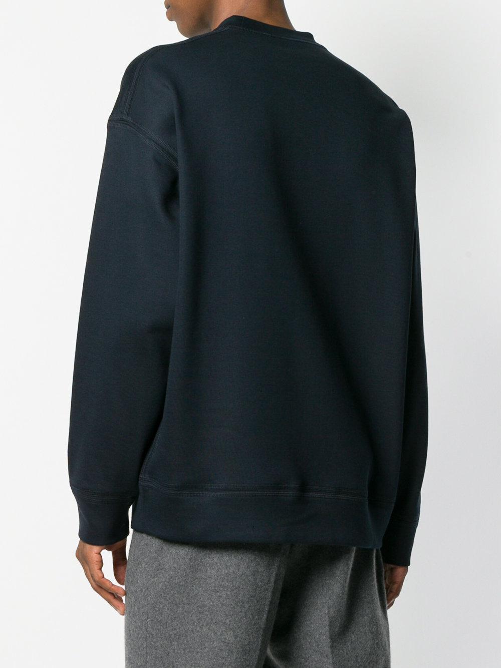 For Oversized Pocket Fullscreen Sander Blue View Jil Men Sweatshirt Chest Lyst OwSpFqH