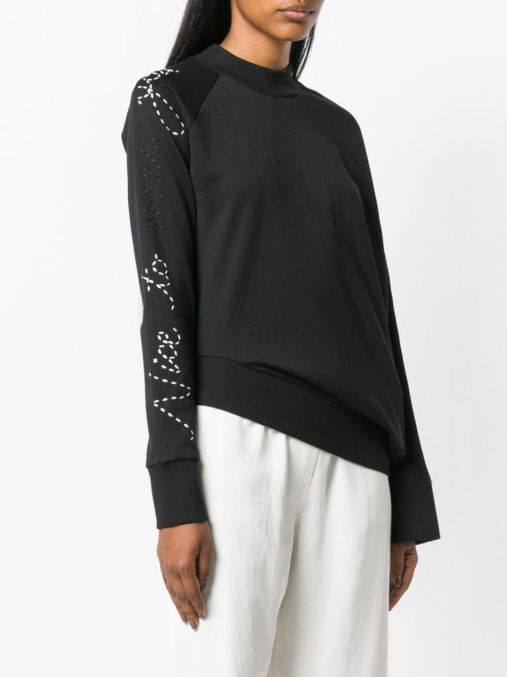 868d8bf1d Y-3 - Black Adidas X Yohji Yamamoto Angled Waist Slogan Sweater - Lyst.  View fullscreen