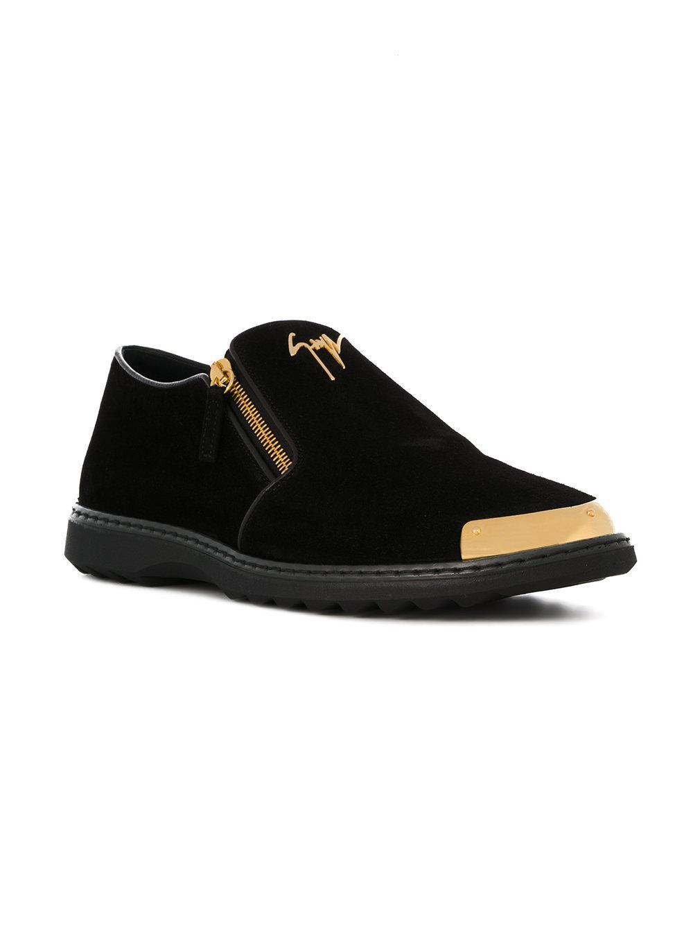 Giuseppe Zanotti Leather Cooper Loafers in Black for Men