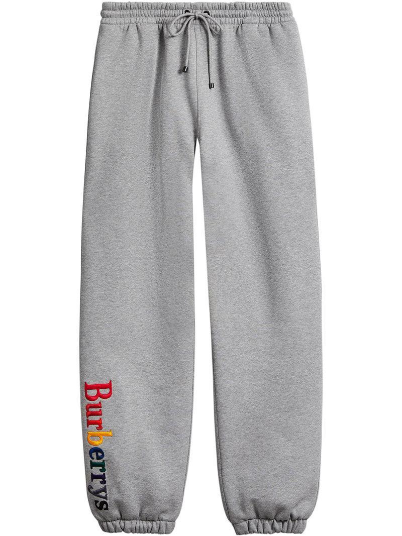 8df8c7cfaac Lyst - Pantalon de jogging à logo brodé Burberry pour homme en ...