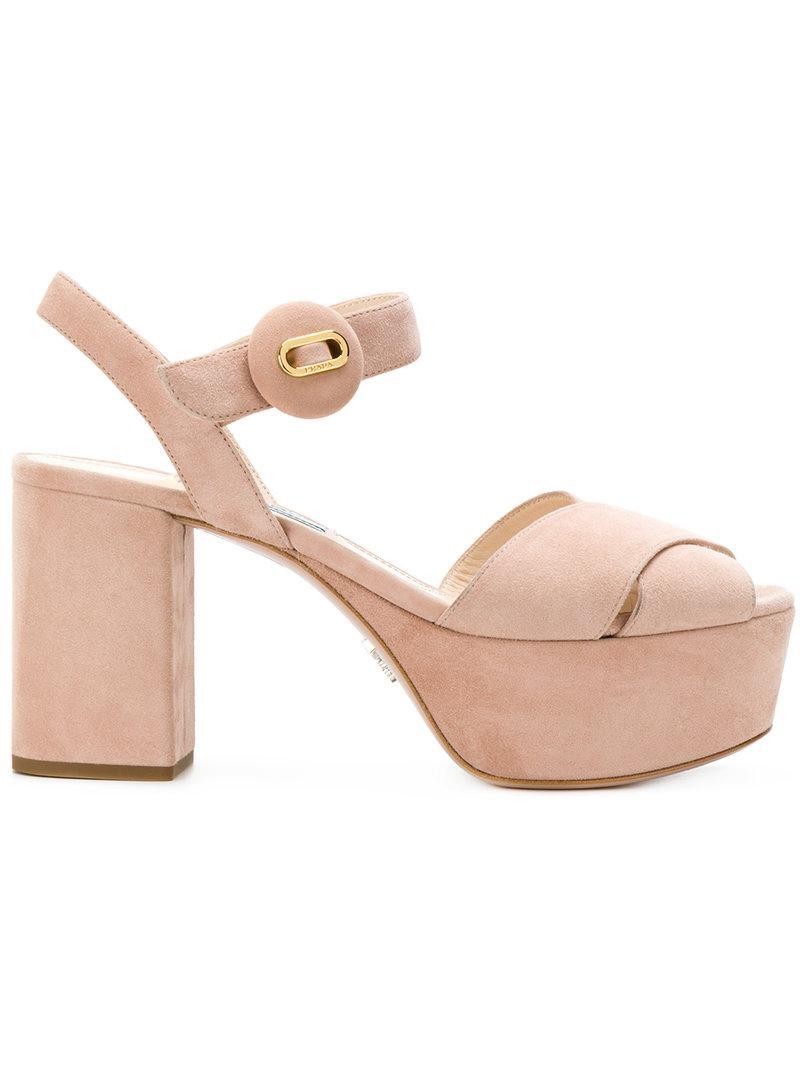 platform sandals - Nude & Neutrals Prada sZr41