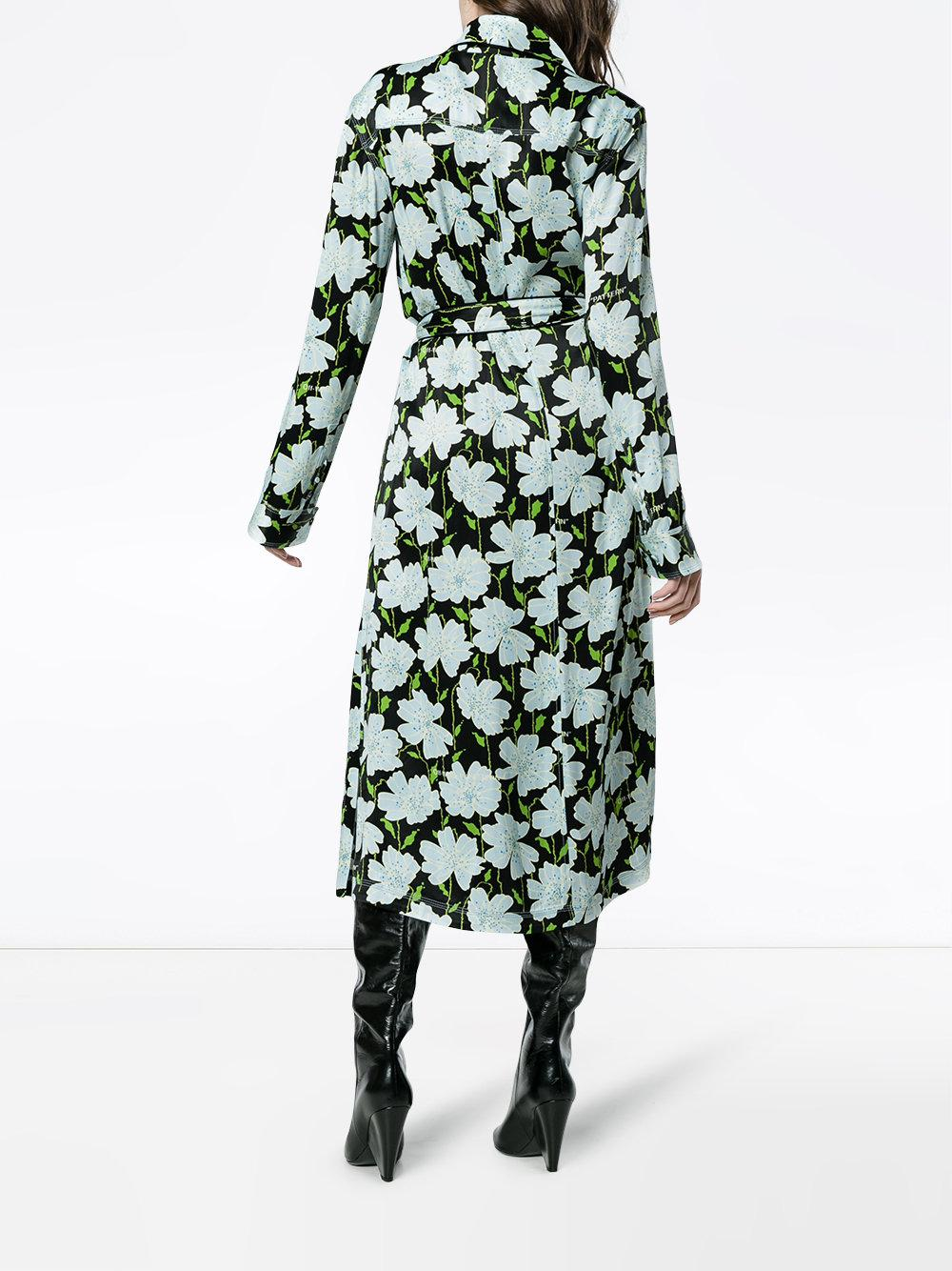 709fbcb7 Off-White c/o Virgil Abloh - Green Floral Belted Robe Jacket - Lyst. View  fullscreen