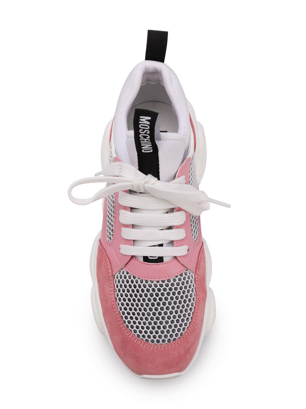 23f18e3daaf76 Moschino Teddy Run Sneakers in Pink - Lyst