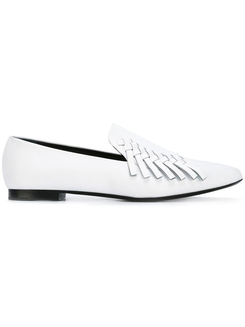 71132ede2a444 Proenza Schouler White Woven Loafers