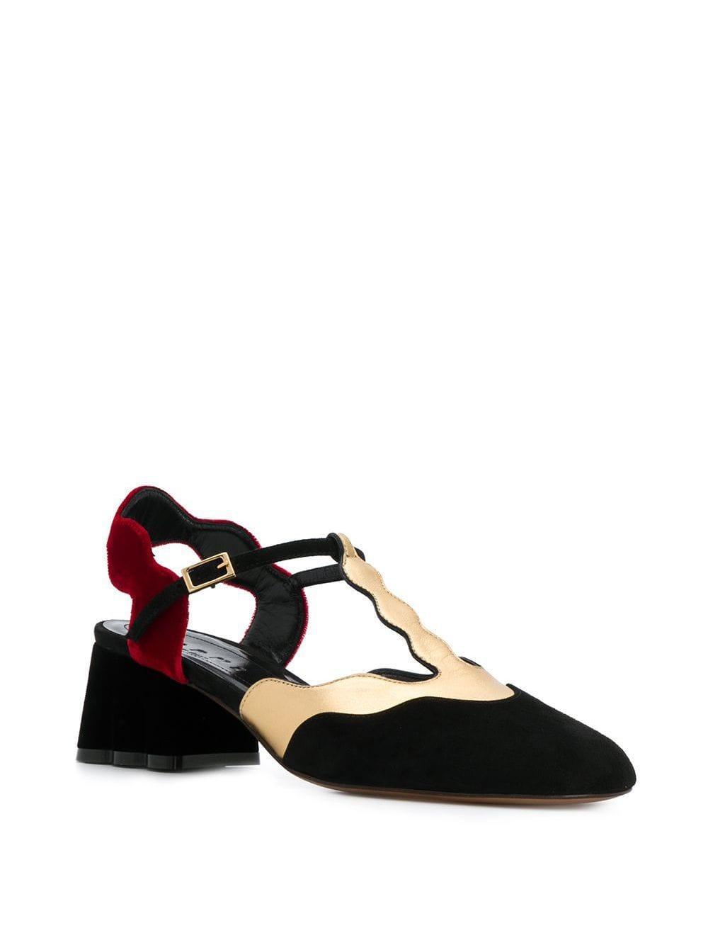 Zapatos con tacón cuadrado y tira trasera Marni de Cuero de color Negro
